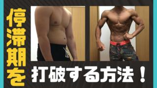 減量の停滞期を打破したい!17kg落とした僕が方法を伝授します!